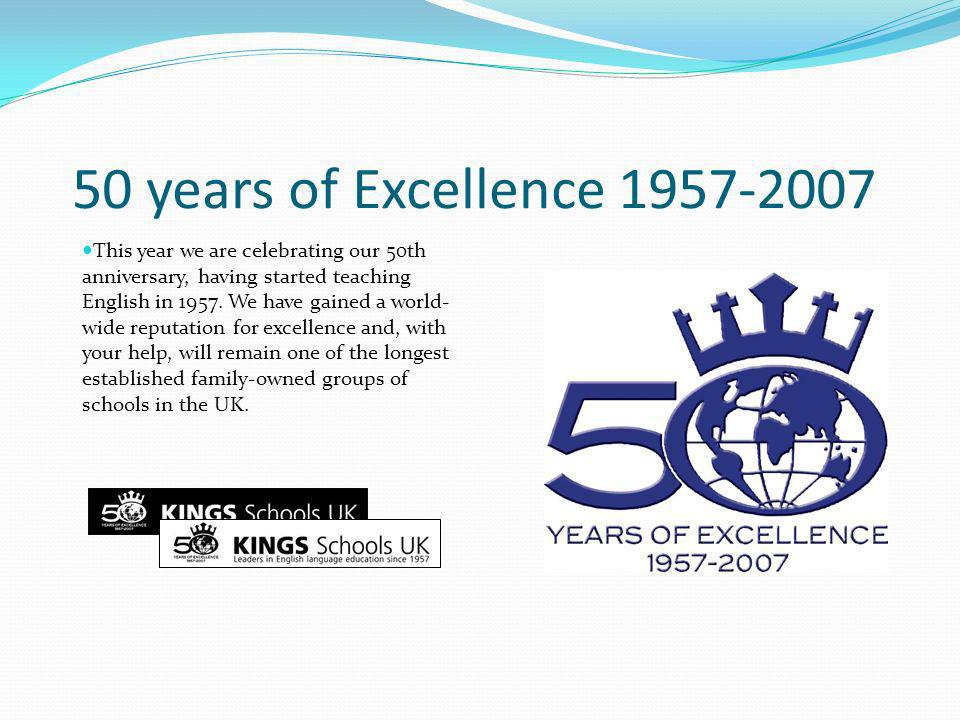 50 years of Excellence 1957-2007