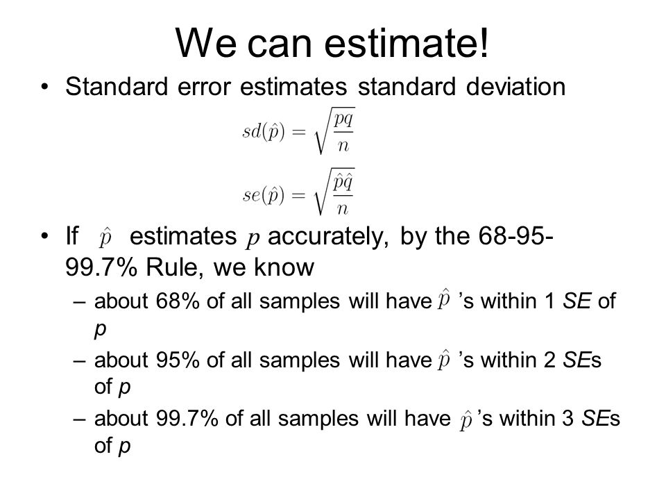 how to find the standard error of estimate