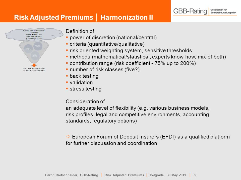 Risk Adjusted Premiums │ Harmonization II