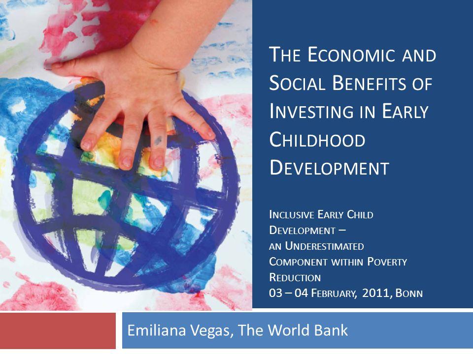 Emiliana Vegas, The World Bank
