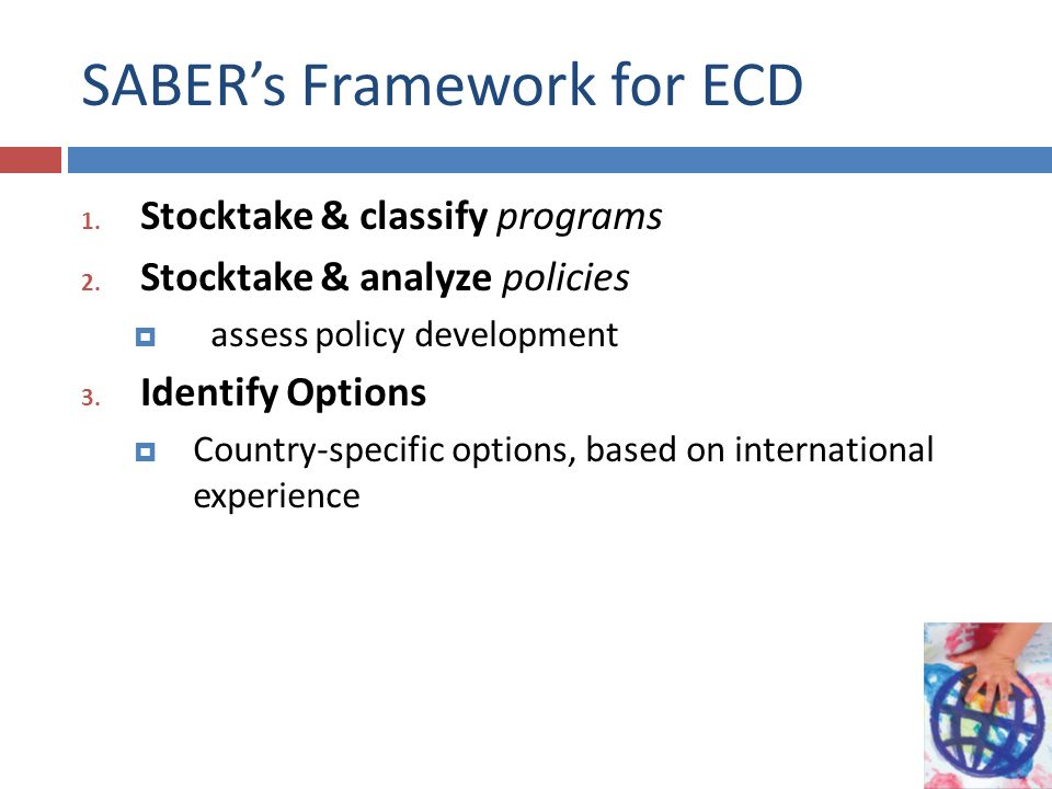 SABER's Framework for ECD