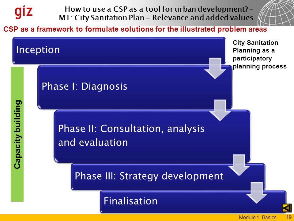 Phase II: Consultation, analysis and evaluation