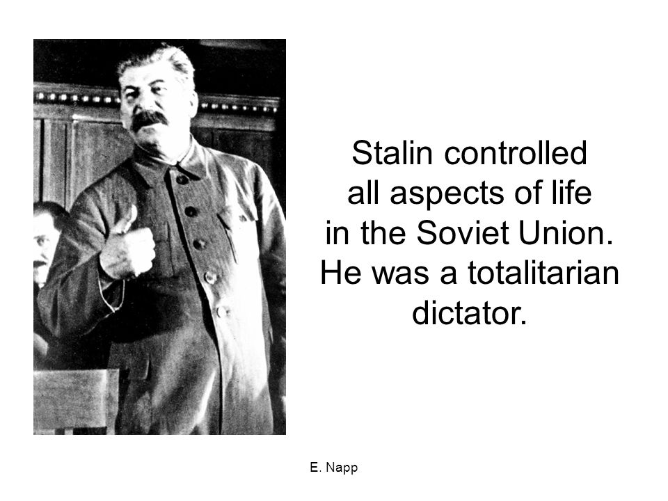 examining totalitarianism through the soviet union Nazi germany (1933-45) and the soviet union during the stalin era (1924-53) were the first examples of decentralized or popular totalitarianism, in which the state achieved overwhelming popular support for its leadership.