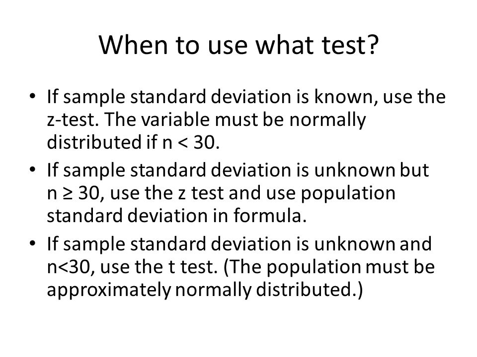 Aim: How do we use a t-test? - ppt download
