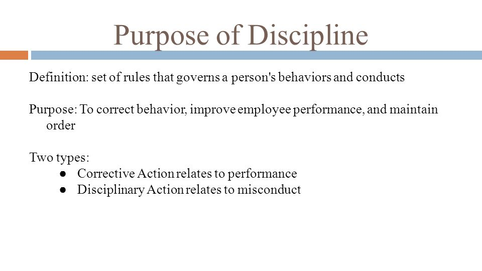 Discipline in the workplace ppt video online download for Rule of three meaning