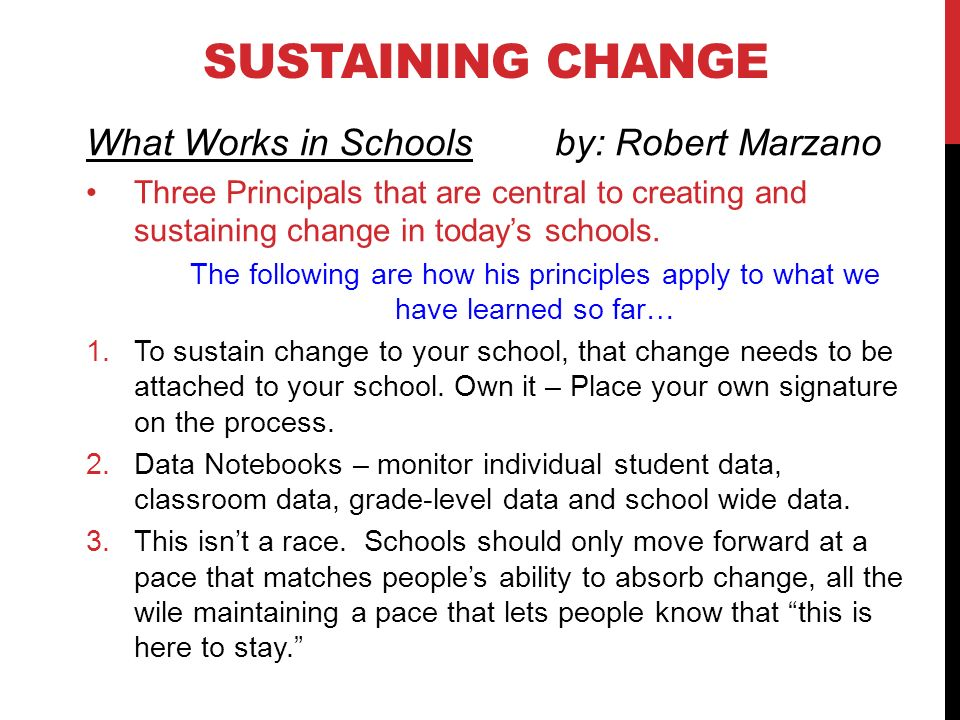 what works in schools marzano pdf