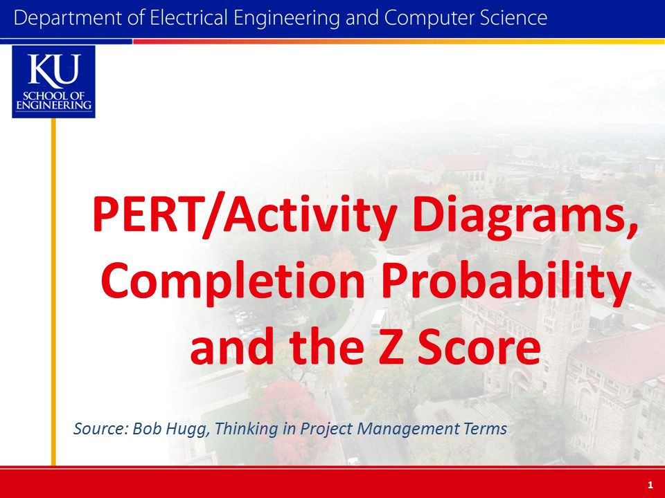 PERT/Activity Diagrams, Completion Probability and the Z Score