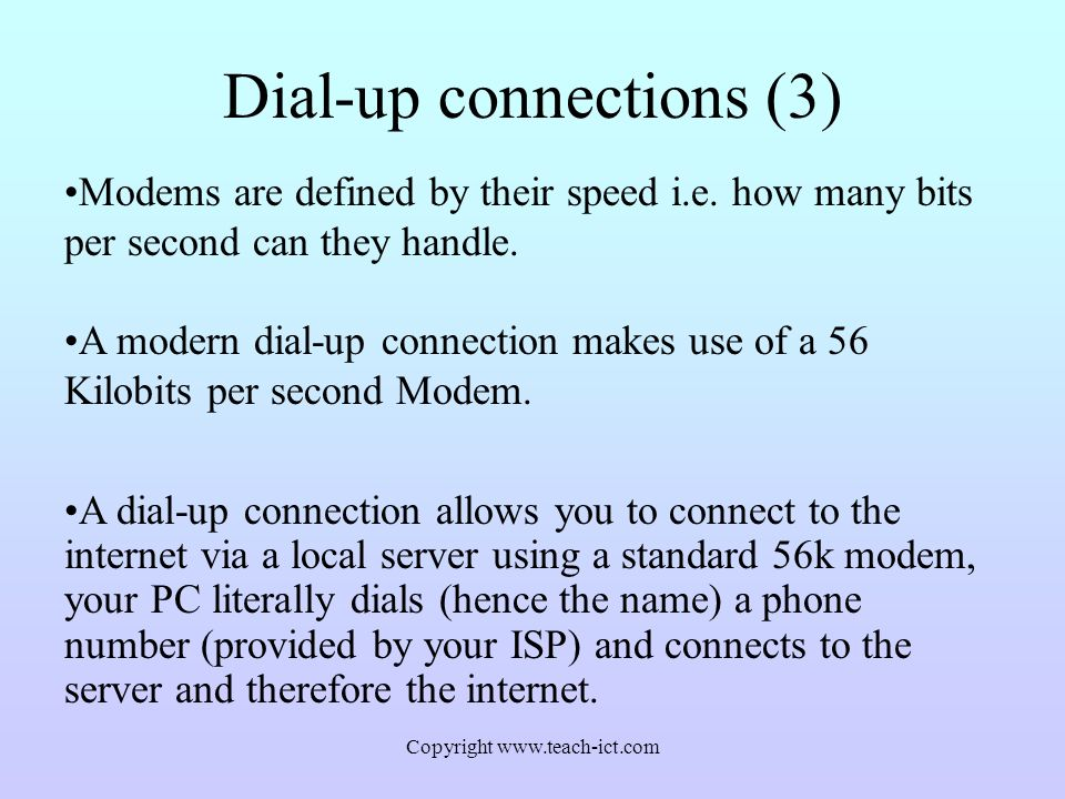 an analysis of the dial up modems External modems for dial-up service are inexpensive and available everywhere computers are sold they are easy to.