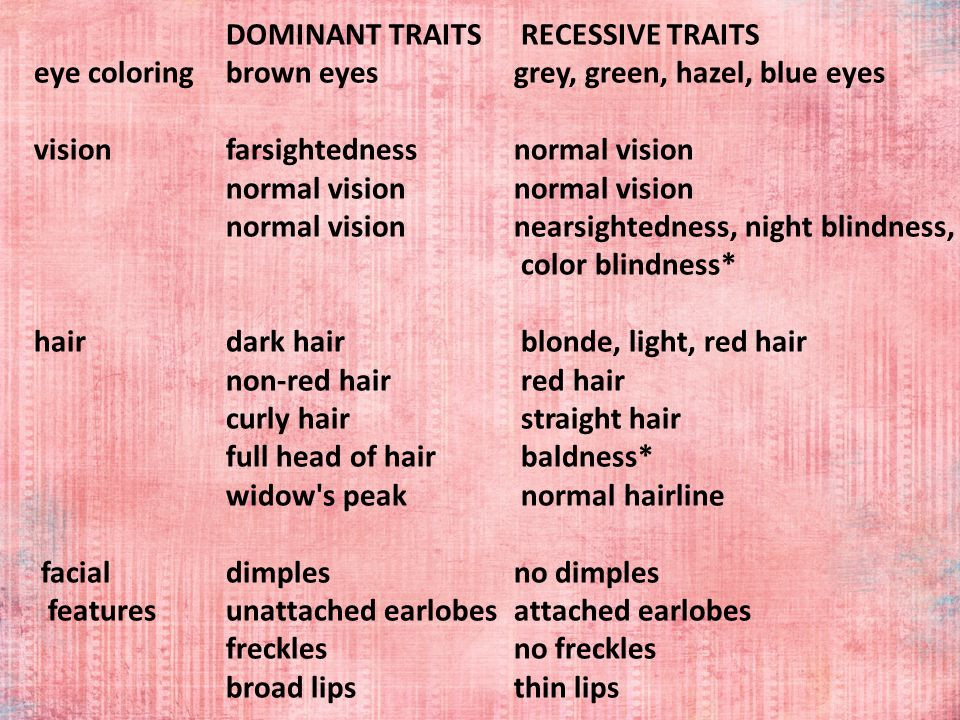 2 DOMINANT TRAITS.