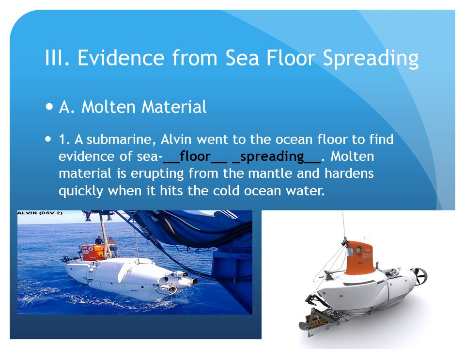 Sea floor spreading inside earth ch ppt video online download for Evidence for sea floor spreading has come from