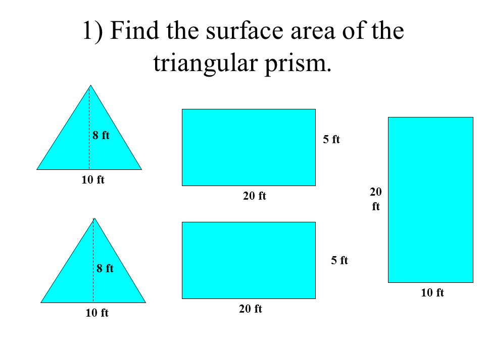 how to find the volume of aright triangular prism
