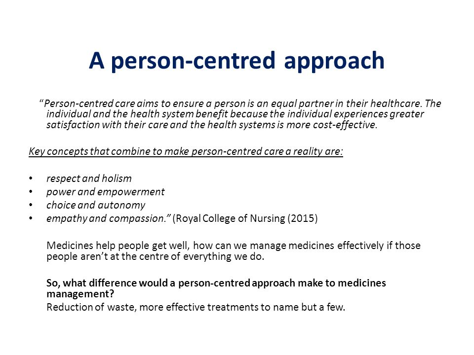 benefits of person centered approach to older clients The life without barriers person centred practice approach (the person centred work, directly with clients and their support networks, in managing.
