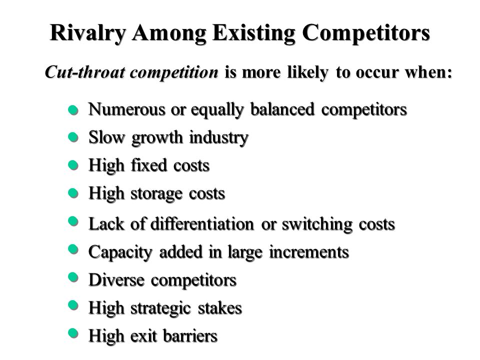 an analysis of a company to stay competitive in the current cut throat competitive environment Among companies is cut throat  competitive market  developments in mortality experience 5.