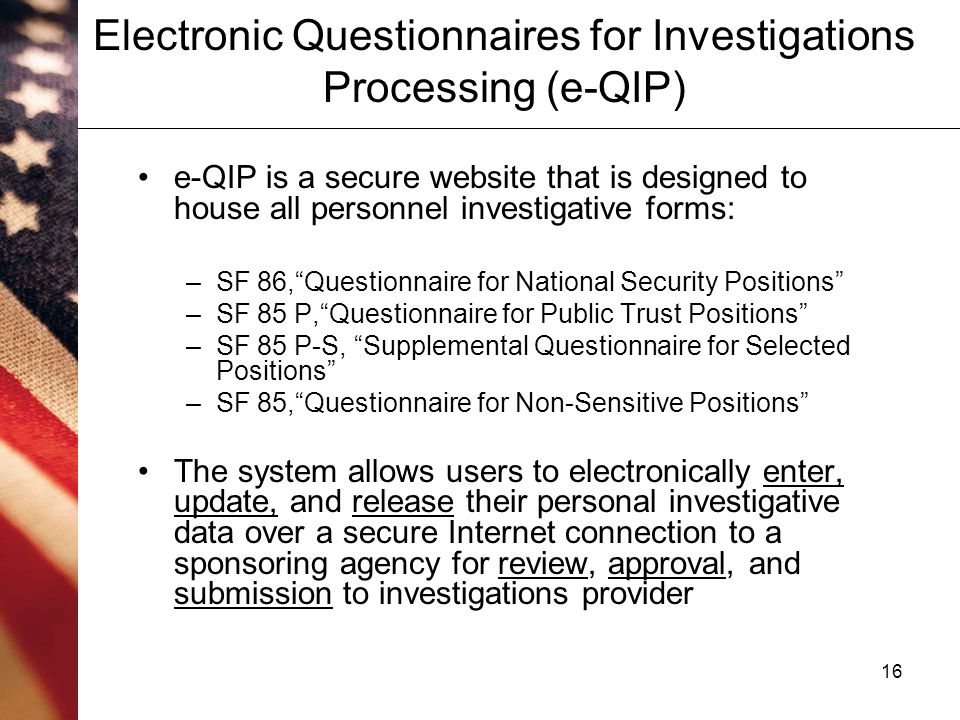 Image Result For Electronic Questionnaires For Investigations Processing