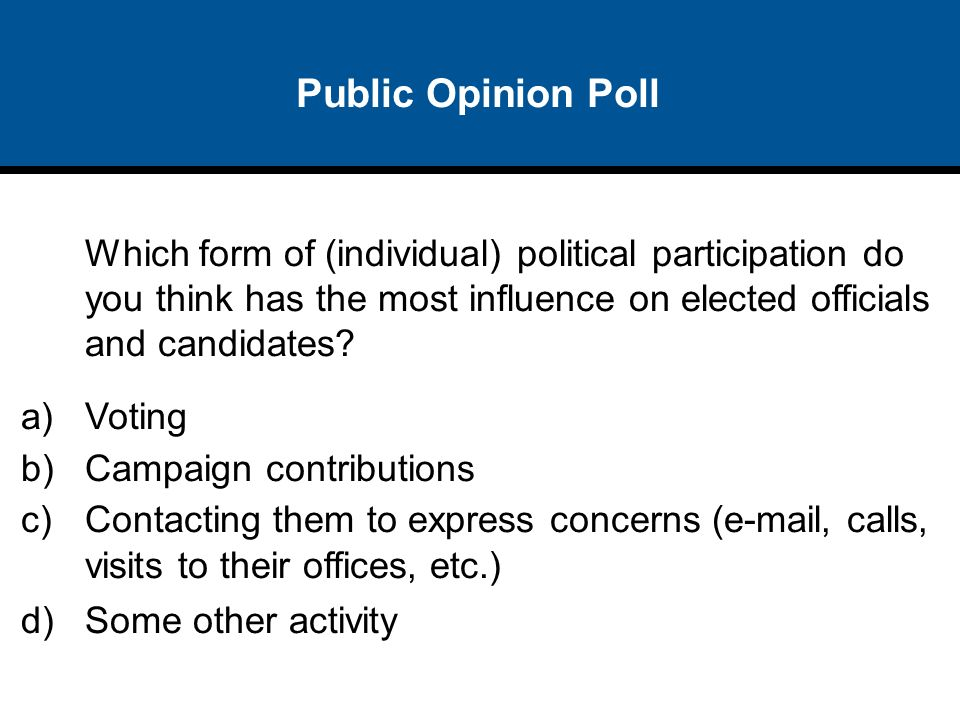 how does public opinion influence policy making politics essay Know and believe about foreign politics public opinion,  the media shape foreign policy by shaping public opinion  influence media effects.