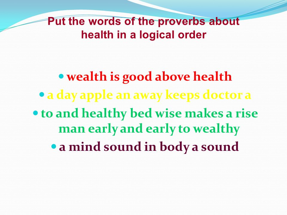 Health is above wealth essay