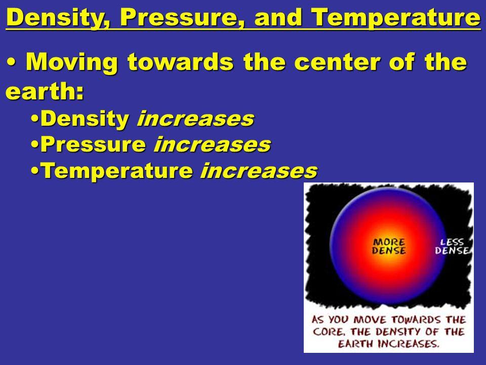 Density, Pressure, and Temperature