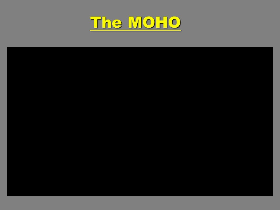 The MOHO