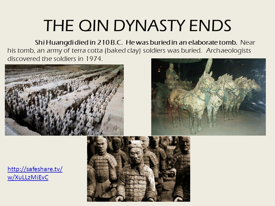 THE QIN DYNASTY ENDS