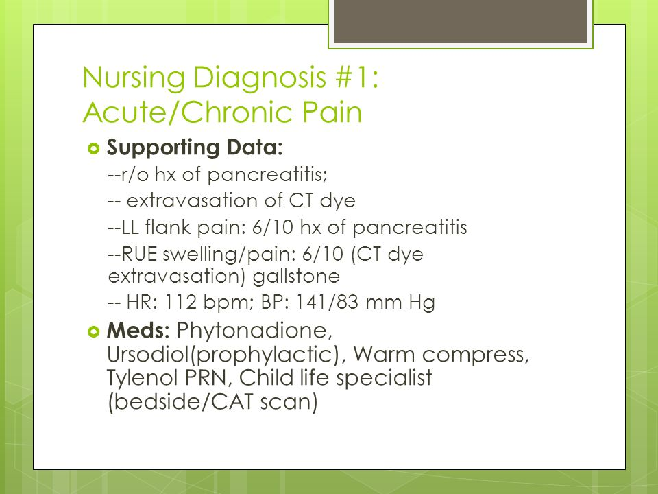 acute pain and chronic pain nursing essay Although acute or nociceptive pain is distinct from chronic pain, the boundaries are not well defined patients with acute pain usually experience resolution, whereas patients with chronic pain are unlikely to do so.