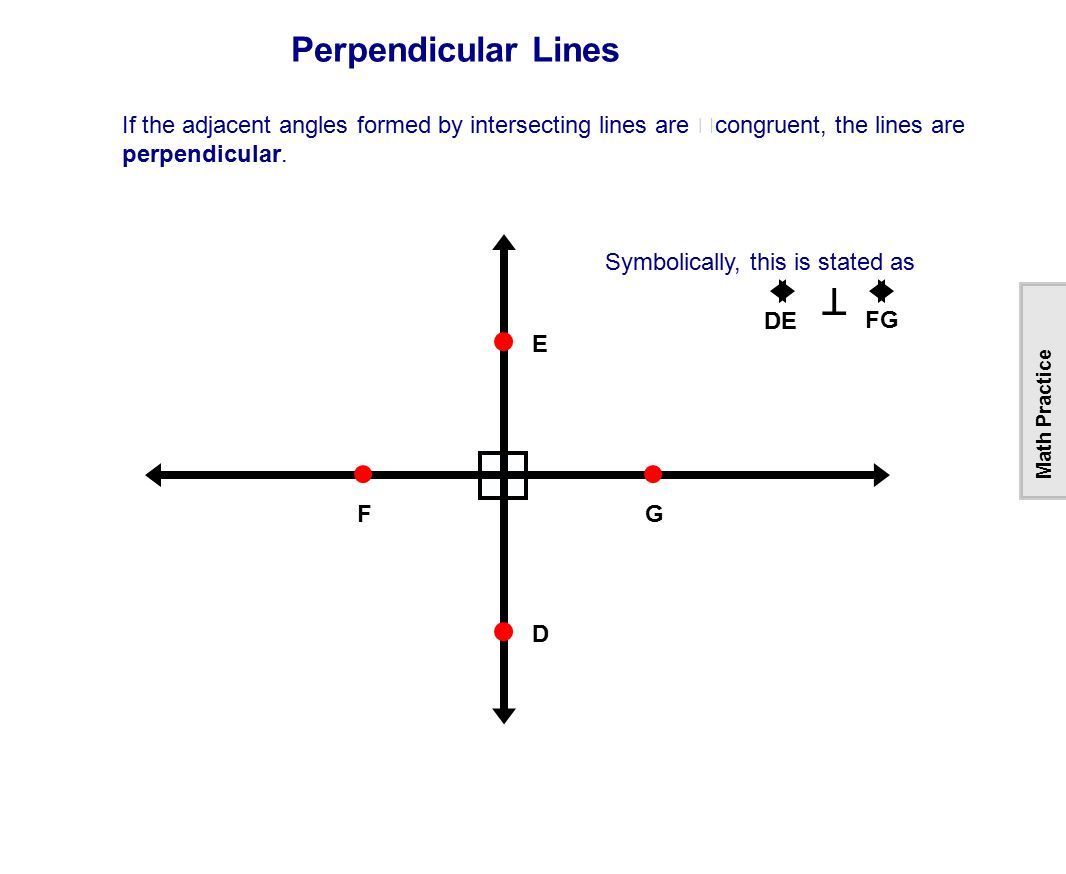 how to tell if lines are perpendicular