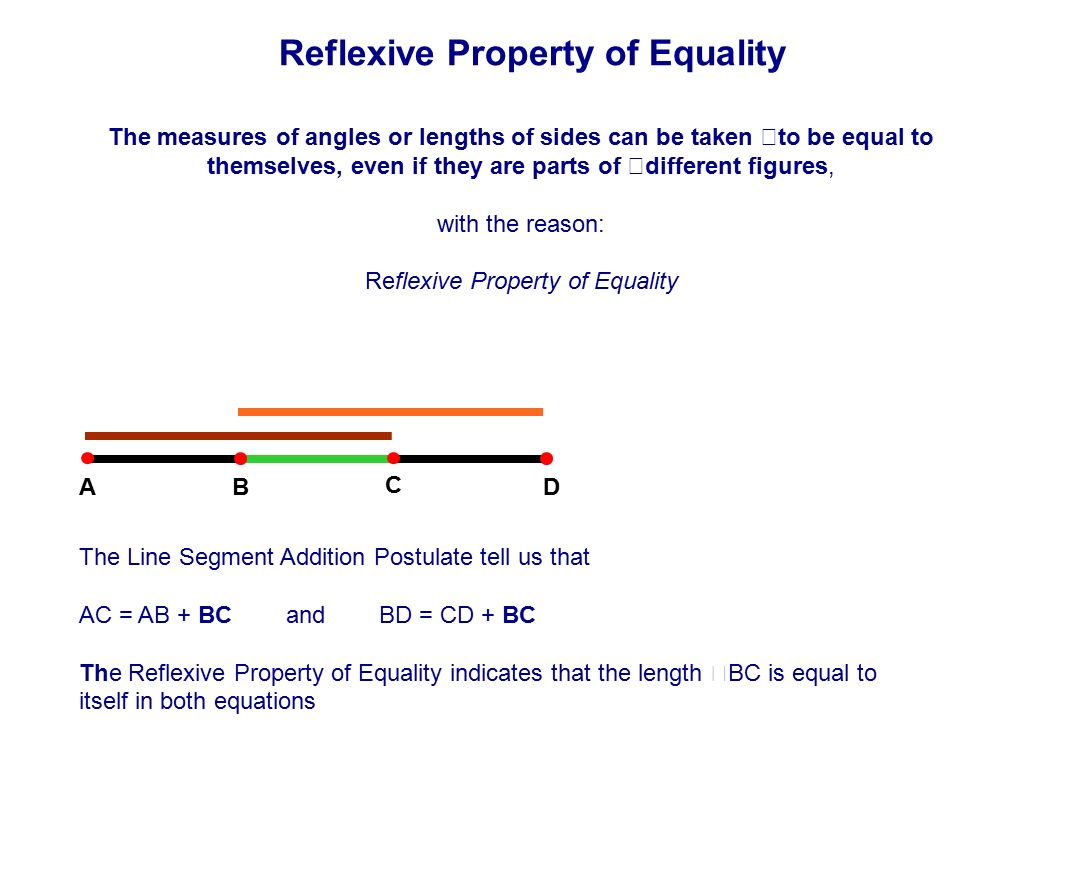worksheet Define Reflexive Property table of contents lines intersecting parallel skew ppt download reflexive property equality