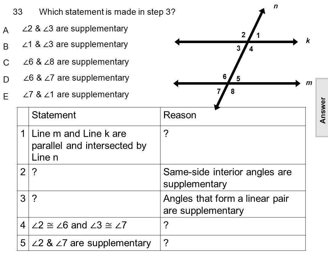 Complementary and supplementary angles worksheet with answers