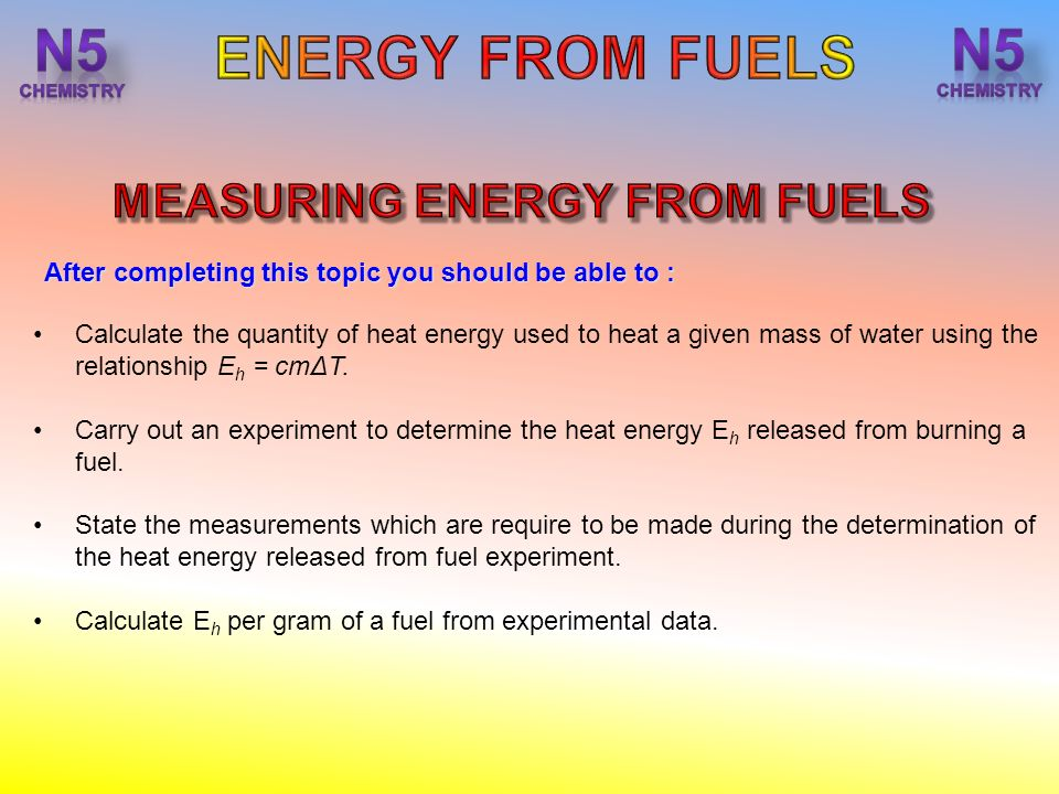 an experiment to measure the thermal energy of a peanut Measuring energy transfers  the diagram shows a simple calorimetry experiment to measure the heat energy released from burning fuel.