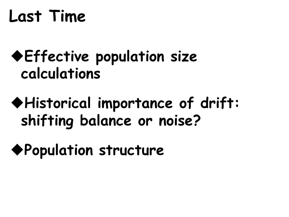 Lecture 13: Population Structure - ppt download