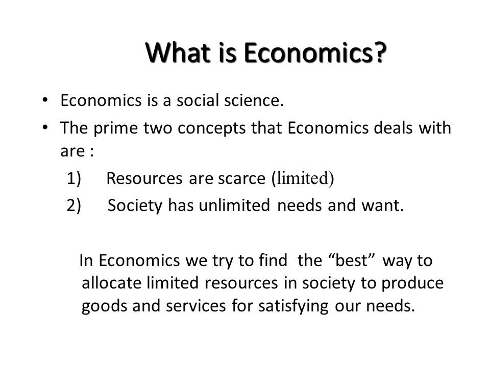 chapter 1 economics as a social science Social sciences can be classified into disciplines such as psychology (the science of human behaviors), sociology (the science of social groups), and economics (the science of firms, markets, and economies.