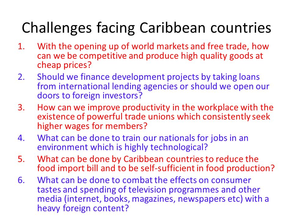 regional integration in the caribbean From 1991 barbados has led the economic integration dimension of the caribbean community known today as the caricom single market and economy (csme) to advance this work further a department of the caricom secretariat was established in barbados, in 2002, to direct regional energies towards the single market and economy.