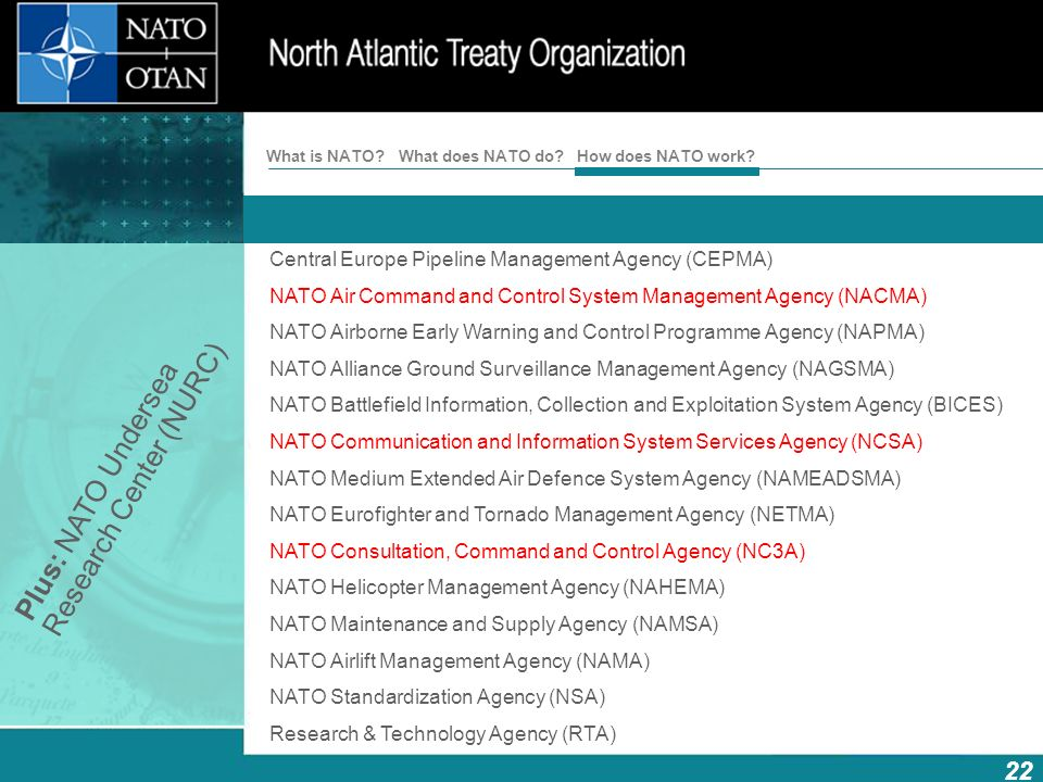Plus: NATO Undersea Research Center (NURC)