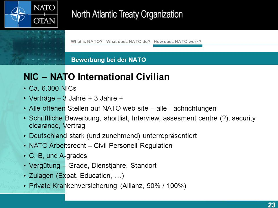 NIC – NATO International Civilian