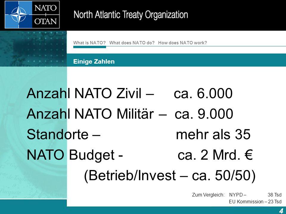 Anzahl NATO Militär – ca. 9.000 Standorte – mehr als 35