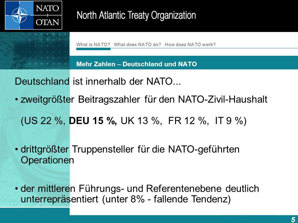 Mehr Zahlen – Deutschland und NATO