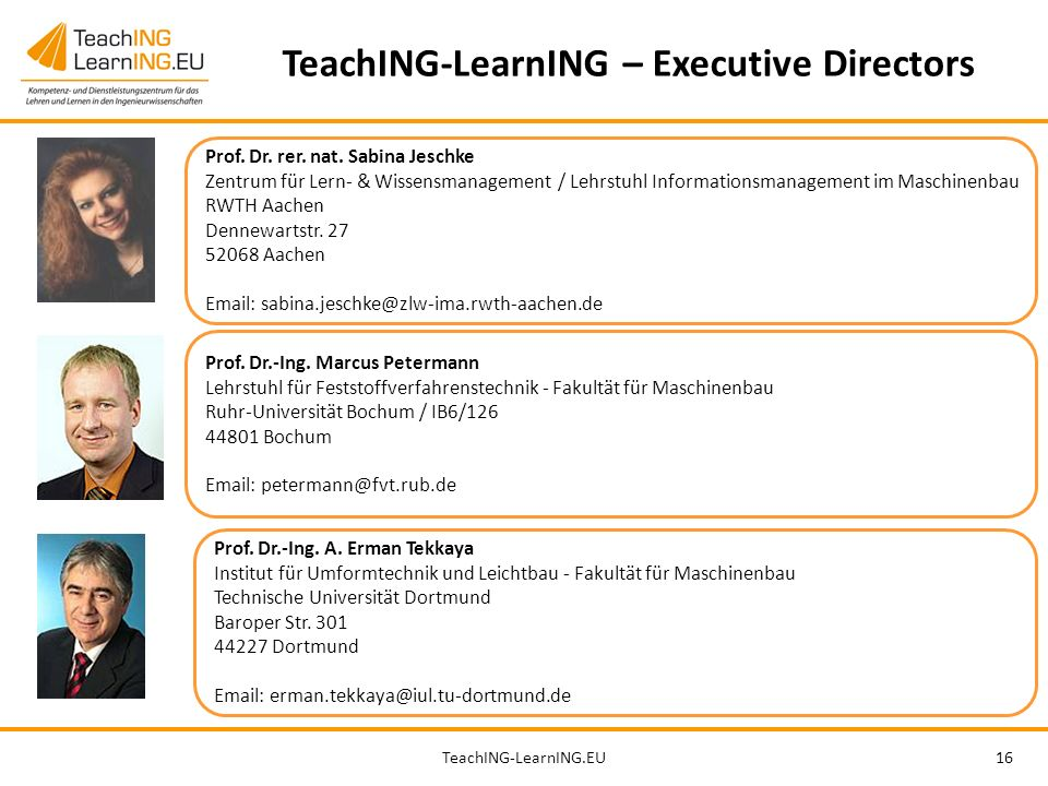 TeachING-LearnING – Executive Directors