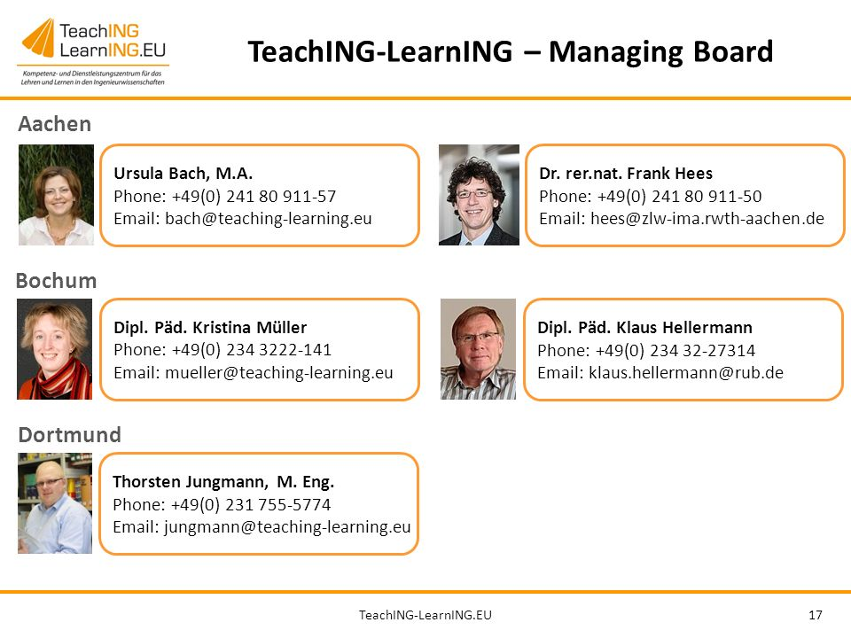 TeachING-LearnING – Managing Board