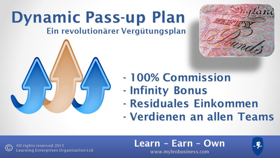 Dynamic Pass-up Plan - 100% Commission - Infinity Bonus
