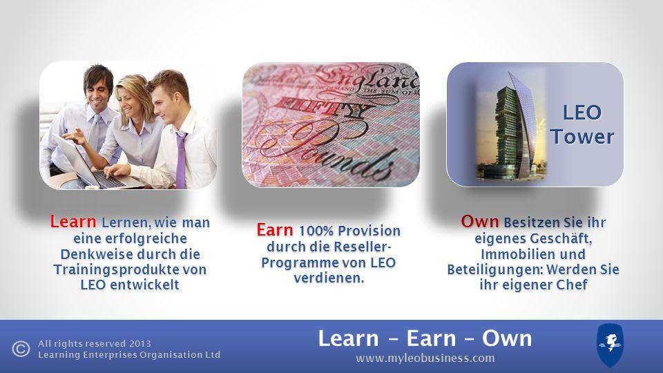 Earn 100% Provision durch die Reseller-Programme von LEO verdienen.