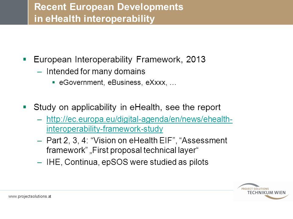 Recent European Developments in eHealth interoperability