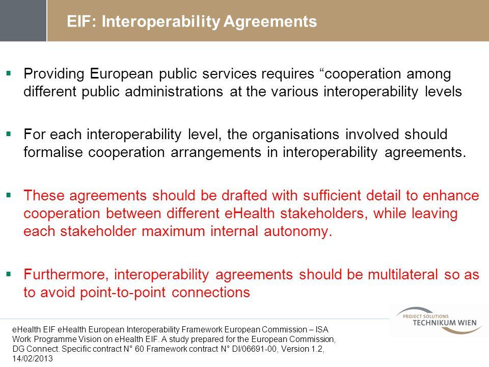 EIF: Interoperability Agreements