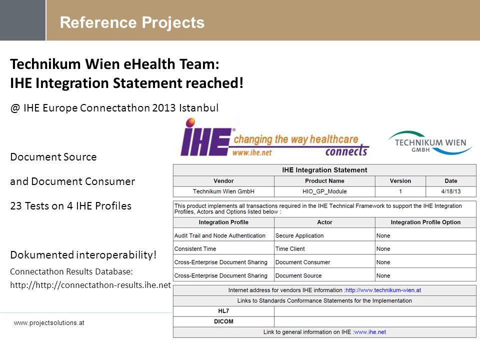 Technikum Wien eHealth Team: IHE Integration Statement reached!