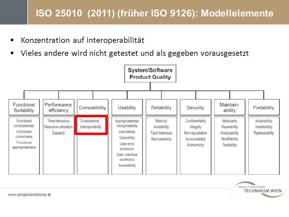 ISO 25010 (2011) (früher ISO 9126): Modellelemente