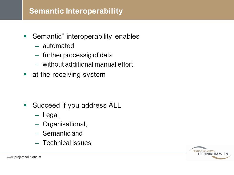 Semantic Interoperability