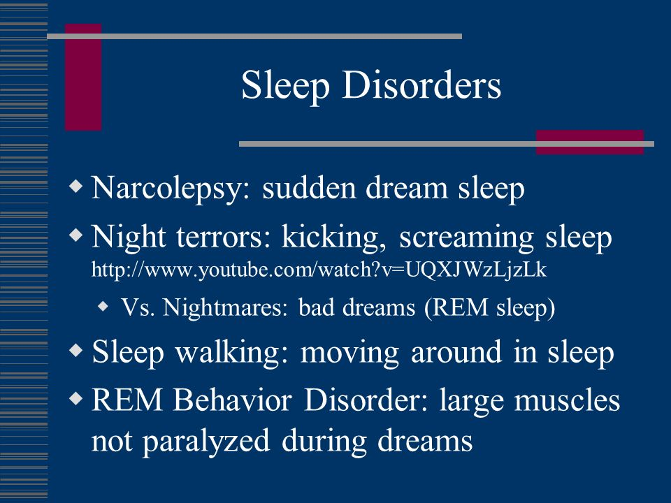 Sleep Problems in the Elderly