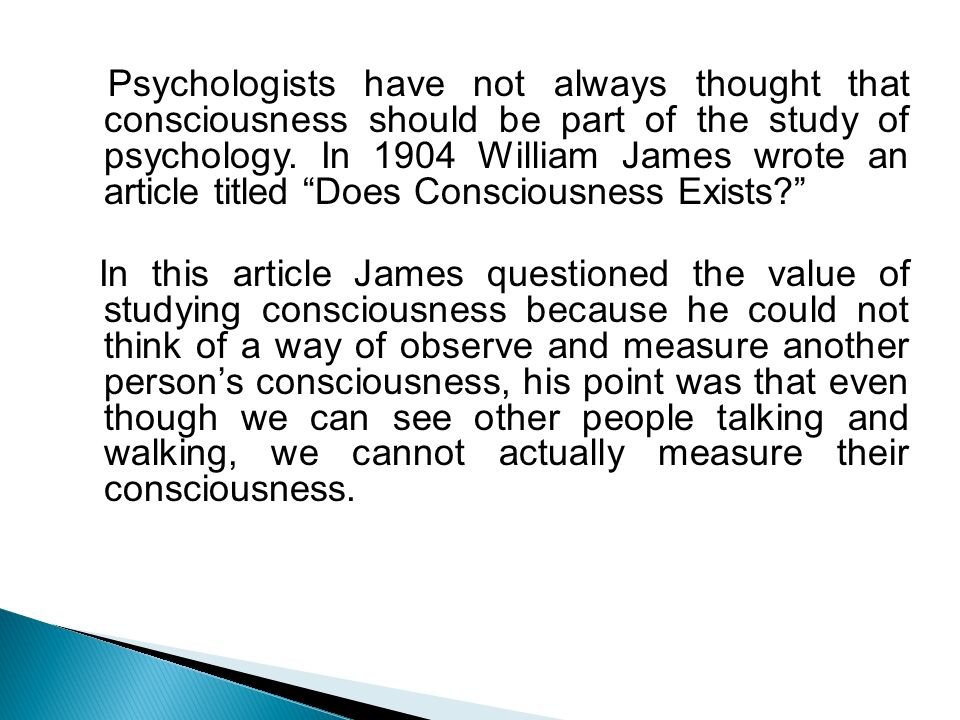 an analysis of the book the psychology of consciousness Keywords: automaticity, thomas nagel, conscious, contrastive analysis,  awareness,  abstract: when are psychologists entitled to call a certain  theoretical construct  substrate, though no doubt such an understanding of the  neural substrate.