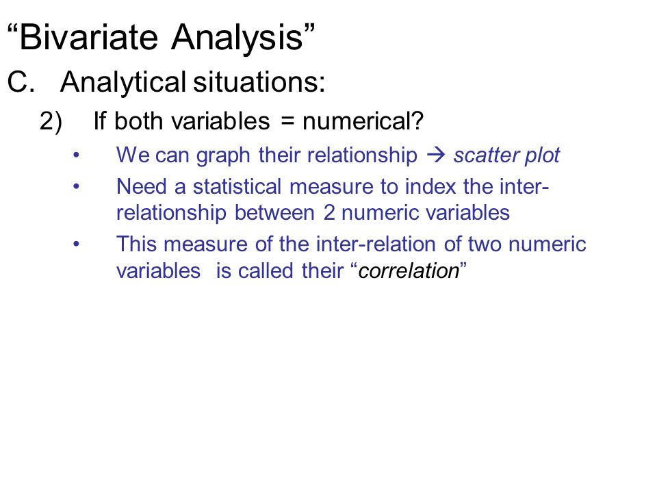 statistical measure relationship between two variables examples