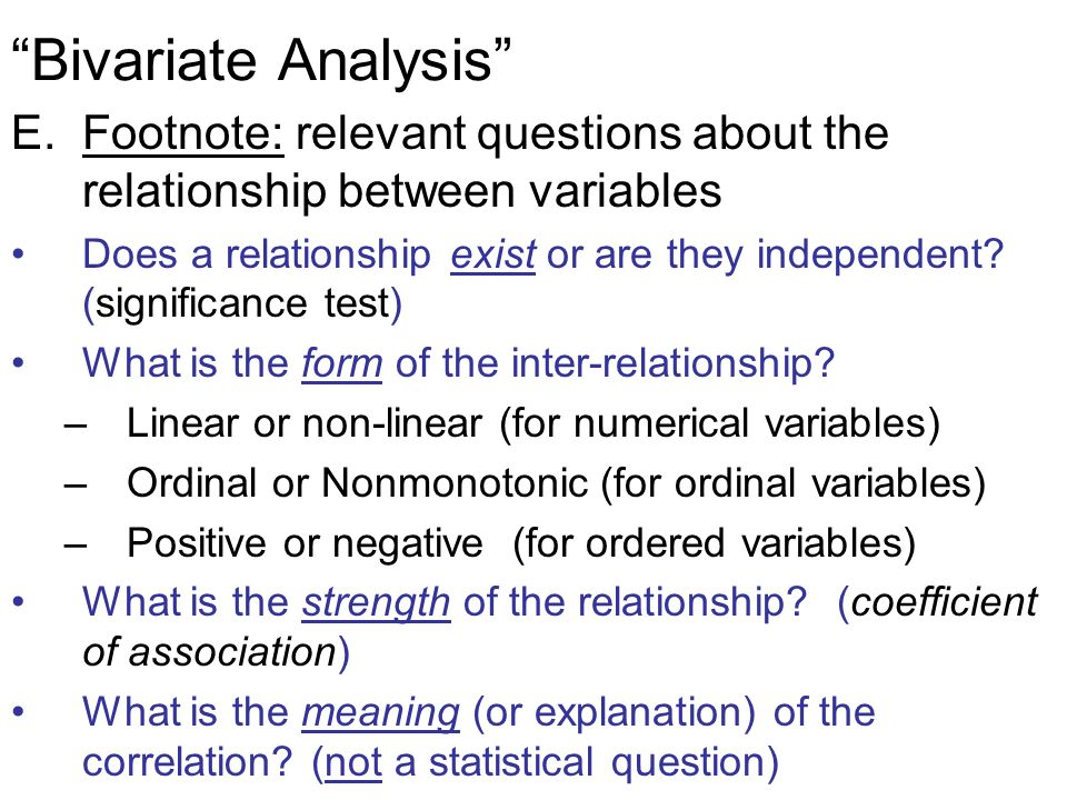 what is a bivariate relationship
