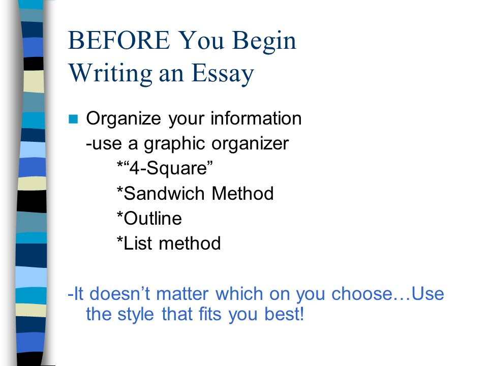 How to write an essay powerpoint presentation