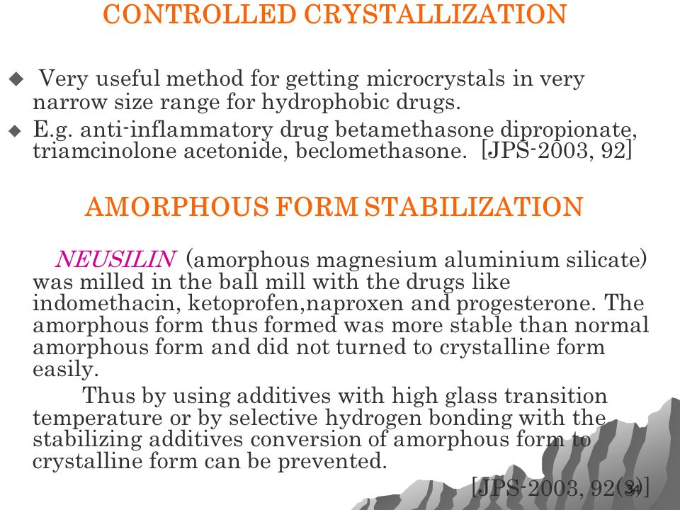CRYSTALLINITY AS A PART OF PREFORMULATION STUDY - ppt video online ...